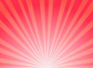 Sunlight horizontal background. red color burst background. Vector illustration.