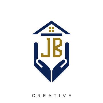 jb home logo design vector icon symbol