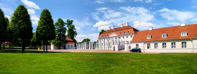 Schloss Meseberg is a baroque castle in Brandenburg from the 18th century. It is used as a guest house of the German Federal Government Wall mural
