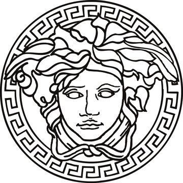 Vector illustration of Medusa mask