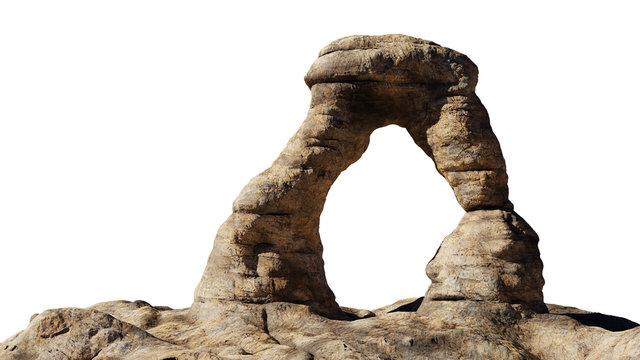 rock bridge isolated on white background
