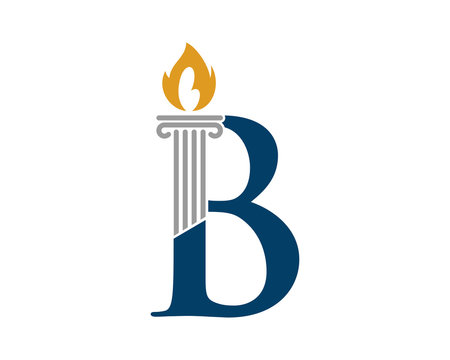 B letter with torch and pillar law firm