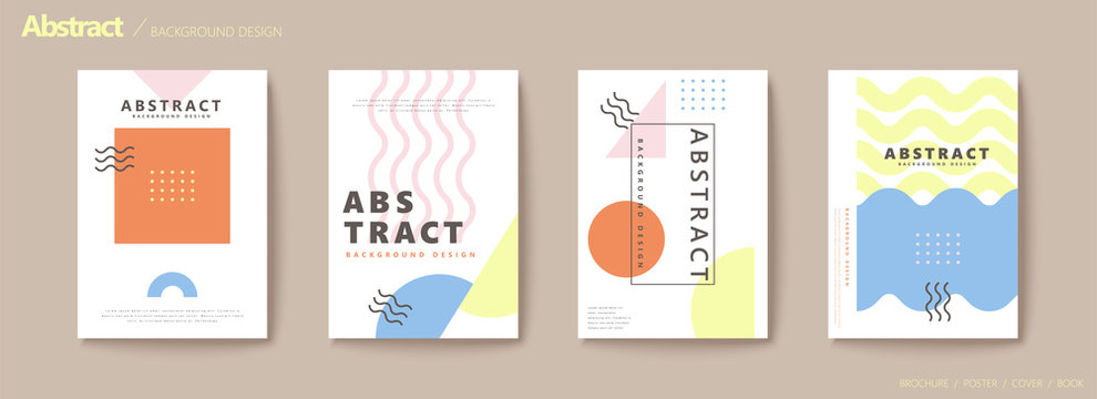 Modern geometric flyer set