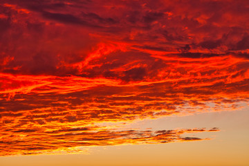 sky, sunset, clouds, cloud, nature, sunrise, orange, dusk, sun, blue, evening, cloudscape, red, light, landscape, sunlight, heaven, color, dawn, weather, dramatic, summer, twilight, cloudy, night