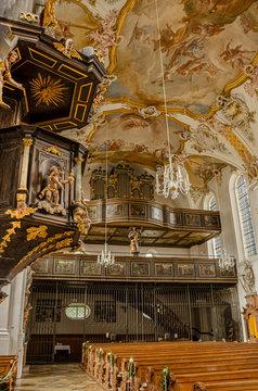 Augsburg Biberbach St. Jakobus St. Laurentius und Hl. Kreuz Innenraum