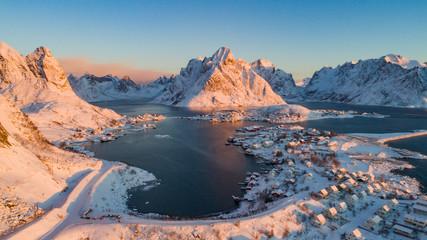 Lofoten Islands landscape in Norway over polar circle.