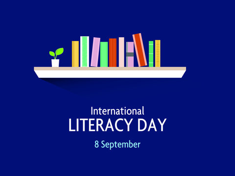 International Literacy Day concept, 8 September. Vector Illustration.