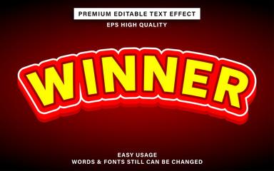 Wall Mural - Winner text effect
