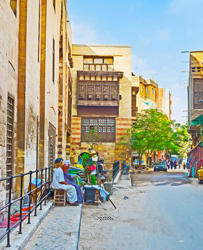 The walls of old Cairo, Egypt