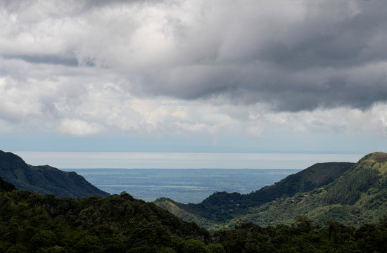 View of the mountains near El Valle de Anton looking towards the Pacific Coast of central Panama