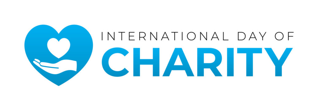 International Day of Charity Logo Icon Isolated