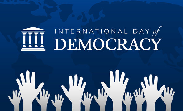International Day of Democracy Background Illustration