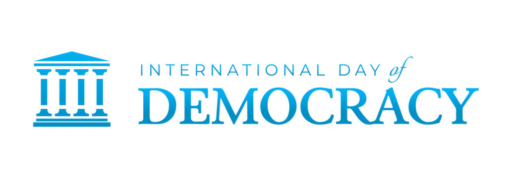International Day of Democracy Logo Icon Isolated
