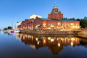Uspenski Cathedral in Helsinki during blue hour