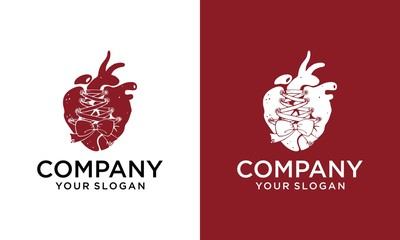 Heart shoe logo design. Vector shoes and heart for fashion shop and business shop.