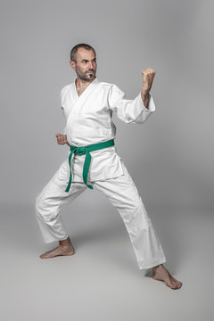40 year old caucasian martial arts practitioner.