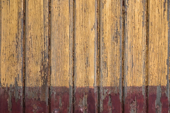 old yellow wooden planks background