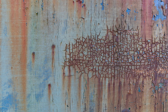 rusty metal texture with cracks