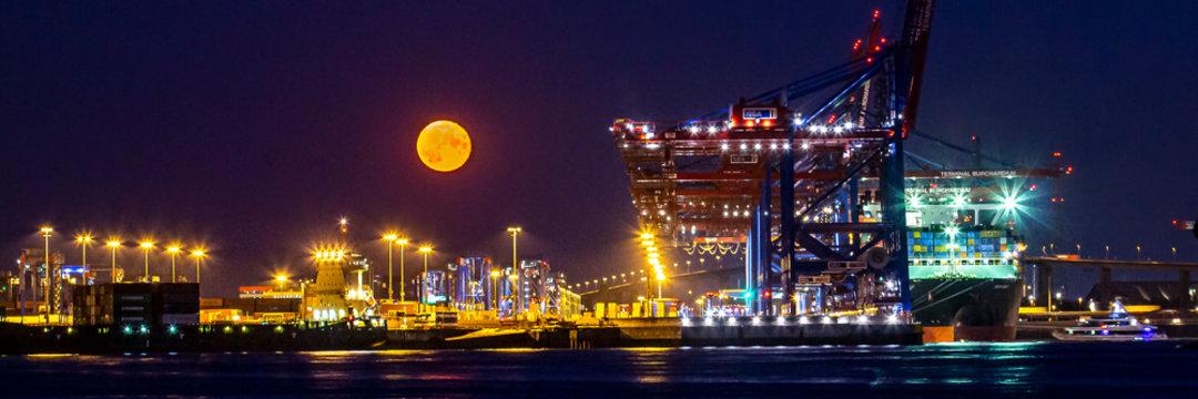 Hamburger Hafenpanorama