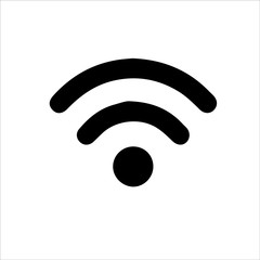 Wifi signal icon isolated on white background. Wifi signal icon in trendy design style. Wifi signal vector icon modern and simple flat symbol for web site, mobile, logo, app, UI. FREE WIFI ICON