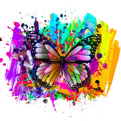 abstract background with butterfly