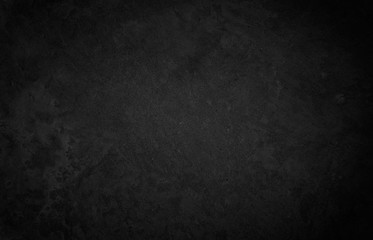 Obraz Close up retro plain dark black cement & concrete wall background texture for show or advertise or promote product and content on display and web design element concept decor. - fototapety do salonu