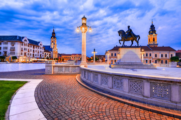Photo sur Plexiglas Europe de l Est Oradea medieval downtown in Transylvania, Romania