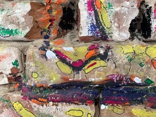 Colorful graffitti background