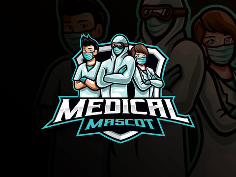 Medical mascot esport logo design