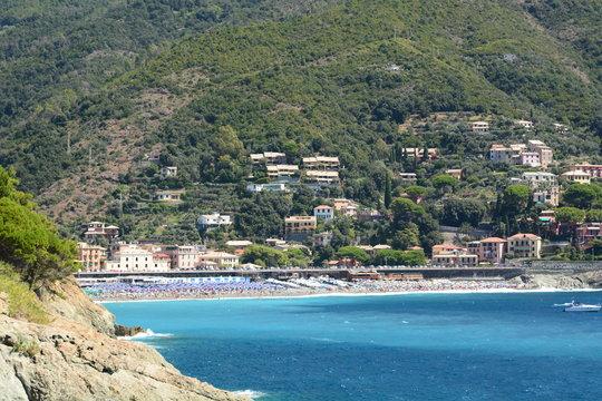 Bonassola. View from Punta della Madonnina. La Spezia province. Liguria. Italy
