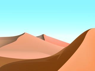 design of dunes and sky,desert landscape background illustrarion