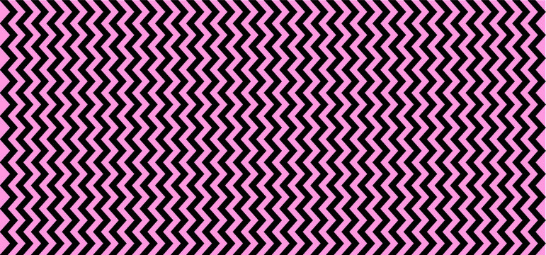 Purple, pink. Seamless Chevron zigzag Pattern Vector chevrons wave line. Wavy stripes background. Retro pop art 80's 70's years. Funny zig zag sign. Texture of fabric or paper scrapbook. Line pattern