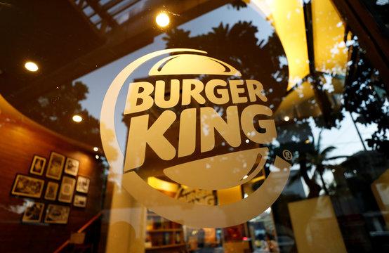 A Burger King logo is seen at a restaurant in Bangkok