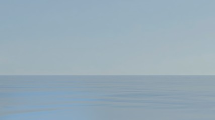 Papiers peints Blanc Oceans and ecological balance. 3d illustration