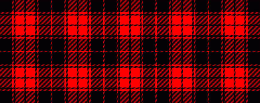 Red lumberjack style. Vector gingham and bluffalo check line pattern. Checkered picnic cooking table cloth. Texture from rhombus, squares for plaid, tablecloths. Flat tartan checker print