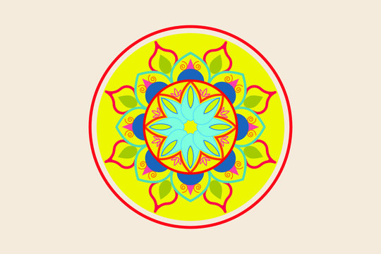 rounded colorful mandala