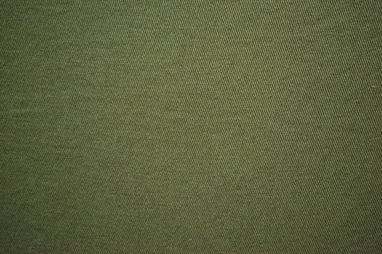 Olive green cotton vintage military fabric cloth texture