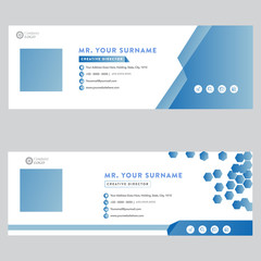 Email signature template design personal social media cover