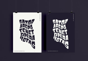 Modern Distorted Typography Poster Layout