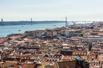 Alfama and Baixa, the oldest districts of Lisbon, it spreads down the southern slope from the Castle of San Jorge to the River Tagus. Portugal