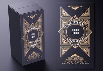 Vintage Box Design Layout