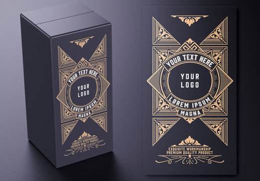 Vintage Box Design Layout