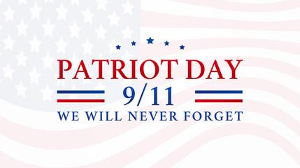Foto auf Leinwand Vogel auf Asten Patriot Day 9/11 Background Illustration