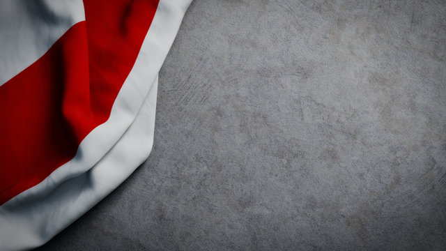 Variant flag of Belarus on concrete backdrop. Belarus protest flag background with copy space