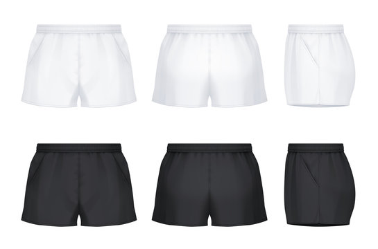 Rugby shorts with pockets
