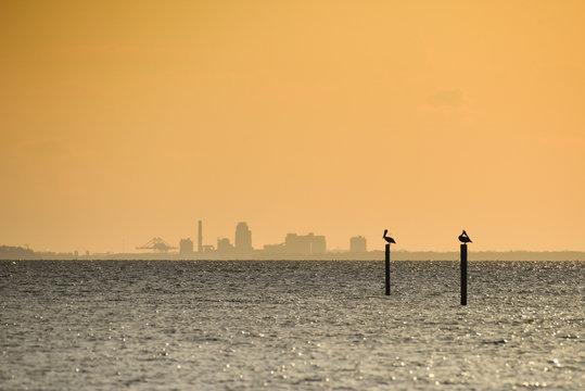 View Across Mobile Bay From Fairhope, AL