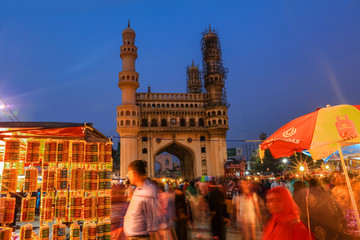 Wall Mural - Charminar in Hyderabad on December 26,2018, Is listed among the most recognized structures in India, Built in 1591