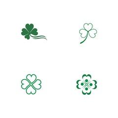Set Clover Logo Template vector symbol