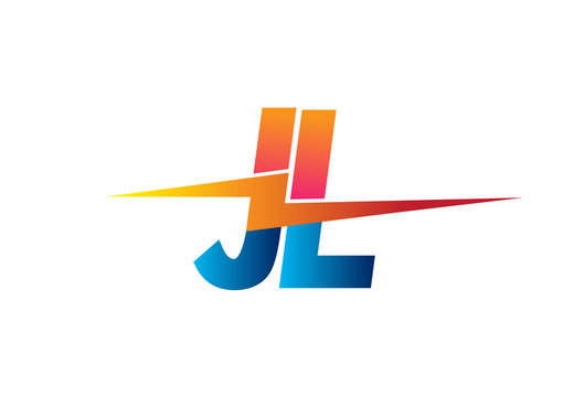 Letter JL logo with Lightning icon, letter combination Power Energy Logo design for Creative Power ideas, web, business and company.