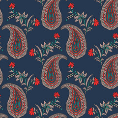 traditional indian paisley pattern on  background